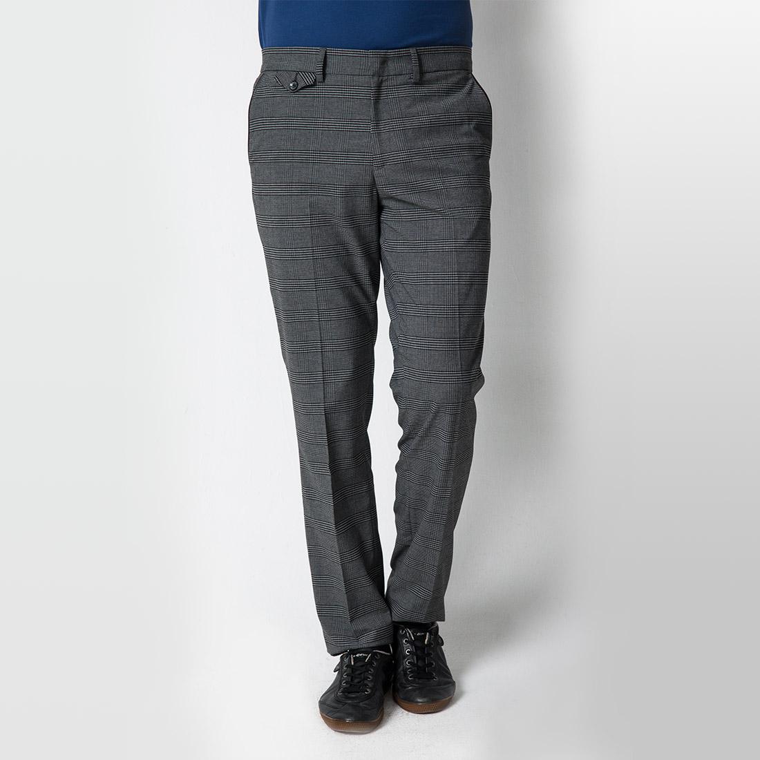 Herren Funktions-Golfhose in klassischem Karo mit enger Passform und Stretch
