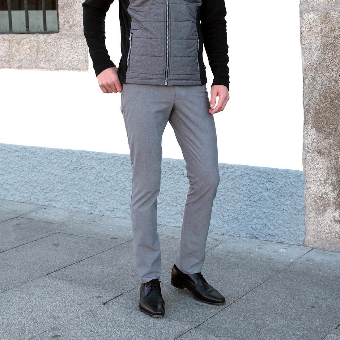 Herren 5-Pocket Golfhose in Slim Fit long aus hochelastischem 4-Way Stretch