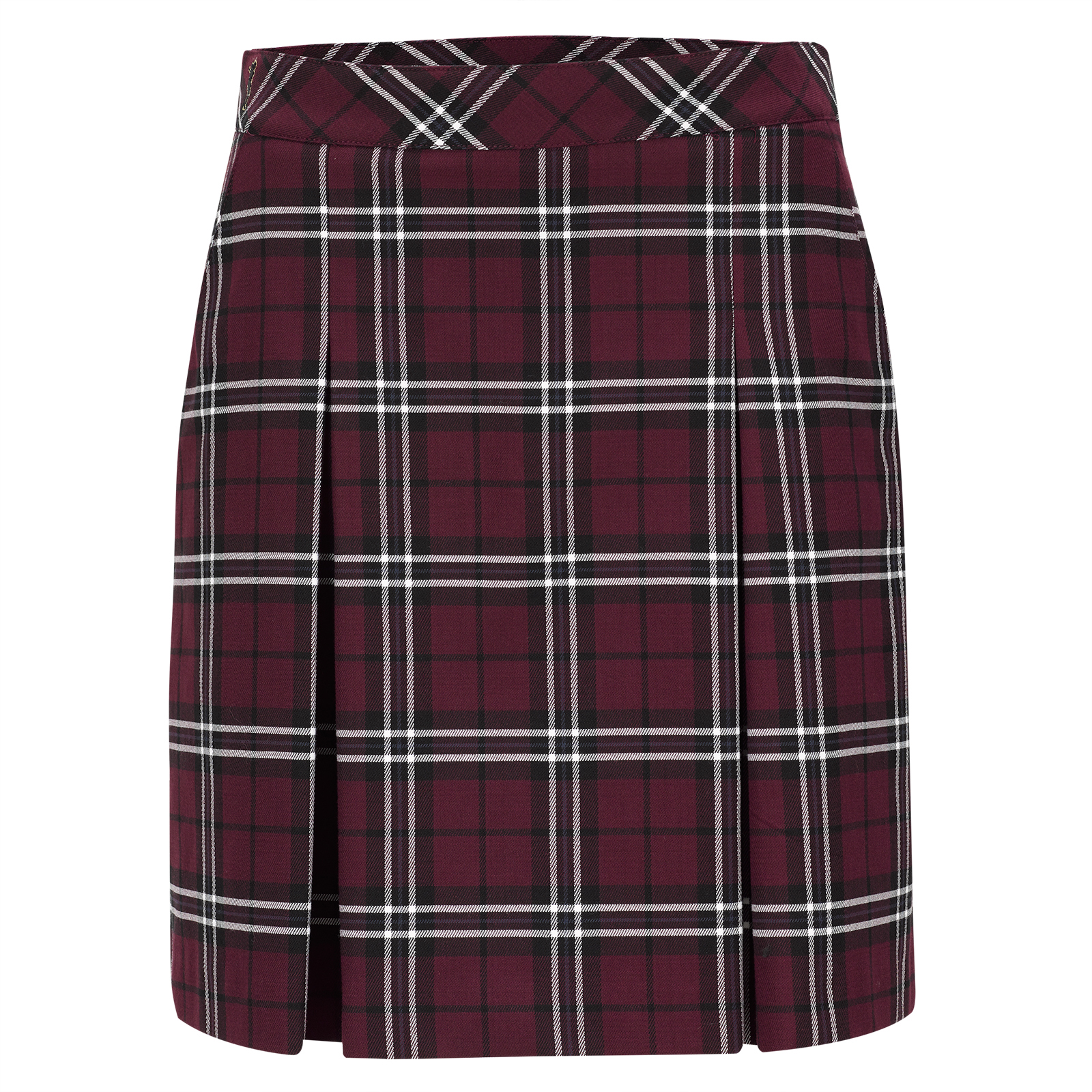 Premium casual ladies' checked golf skort with inner shorts
