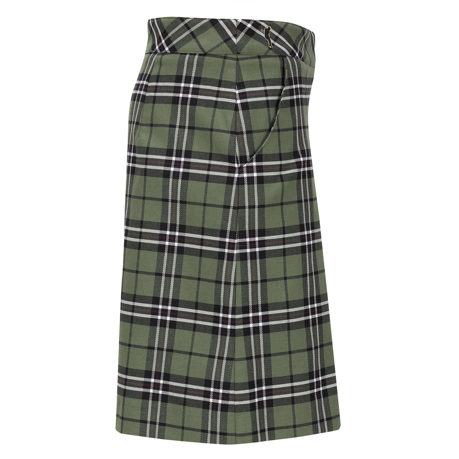 Premium Casual Damen Karo-Golfskort mit innenliegender Hose