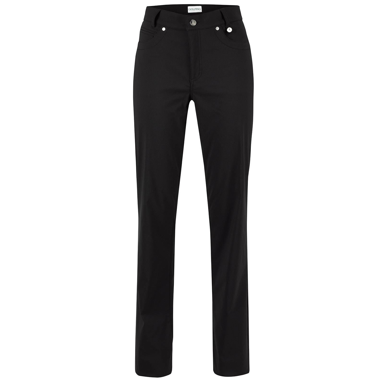 Water-resistant ladies' winter golf trousers with UV protection function