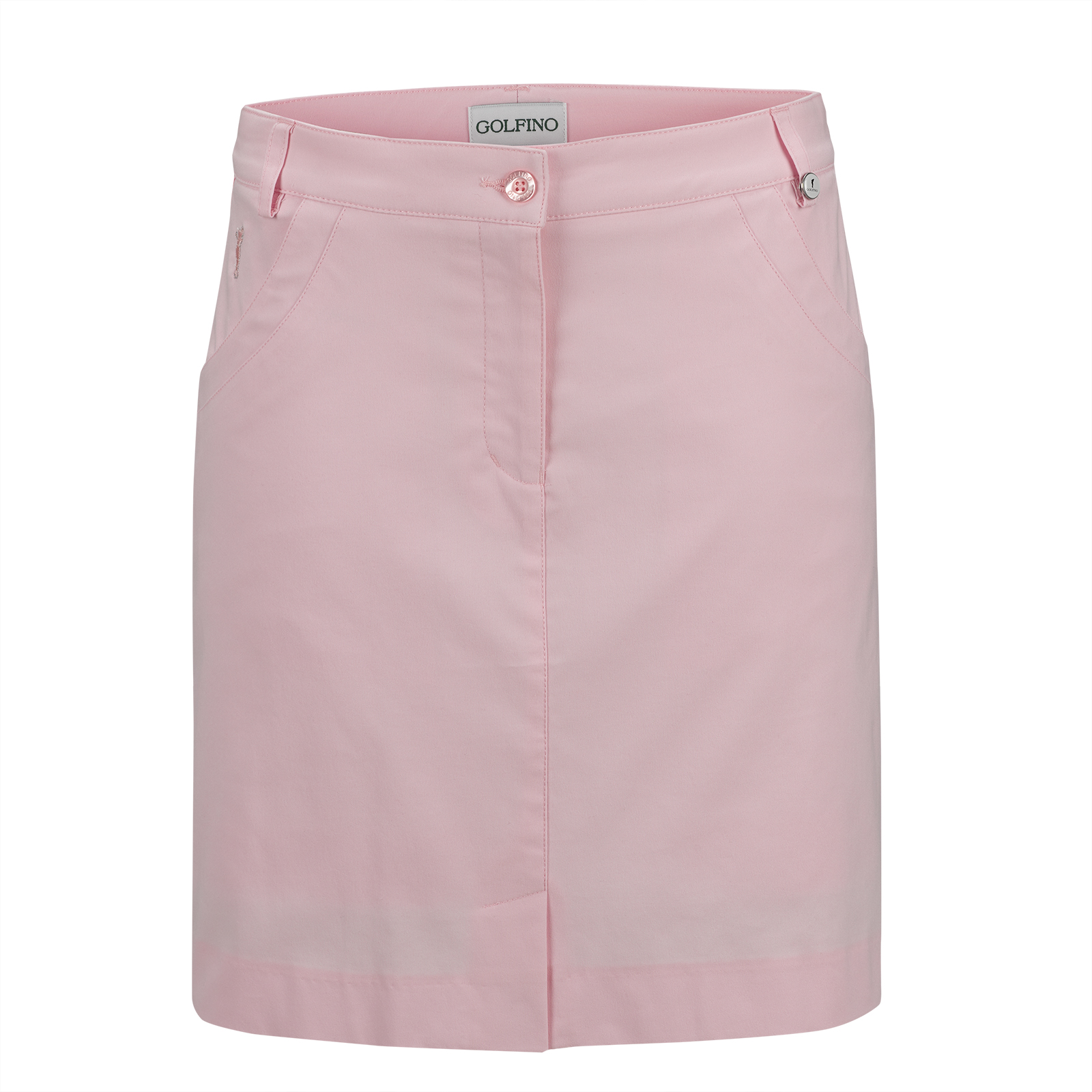 Cotton-blend ladies' medium golf skort with inner shorts