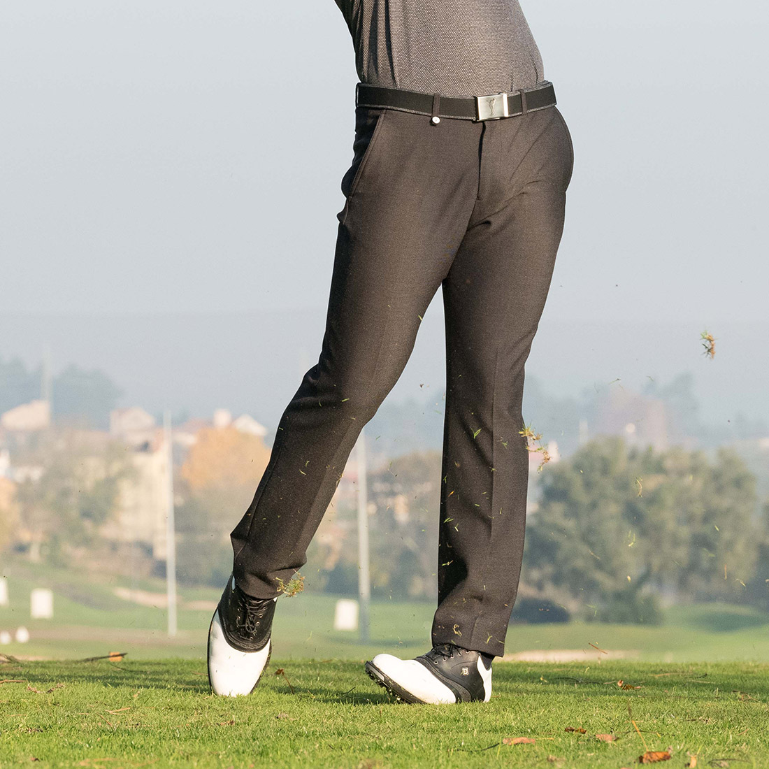 Klassische Herren Techno Tweed 4-Way-Stretch-Golfhose Cold Protection
