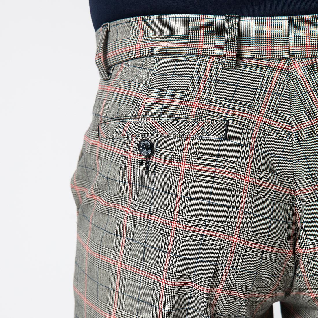 Moderne Herren Karo Funktions-Golfhose mit Stretchfunktion