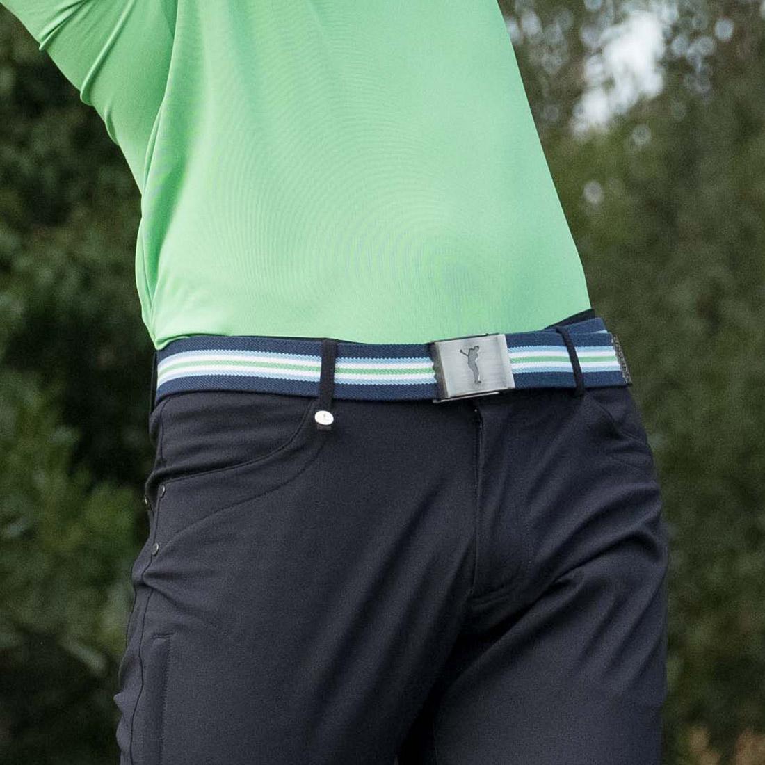 Elastischer Herren Golf-Webgürtel mit nickelfreier Klemm-Schnalle