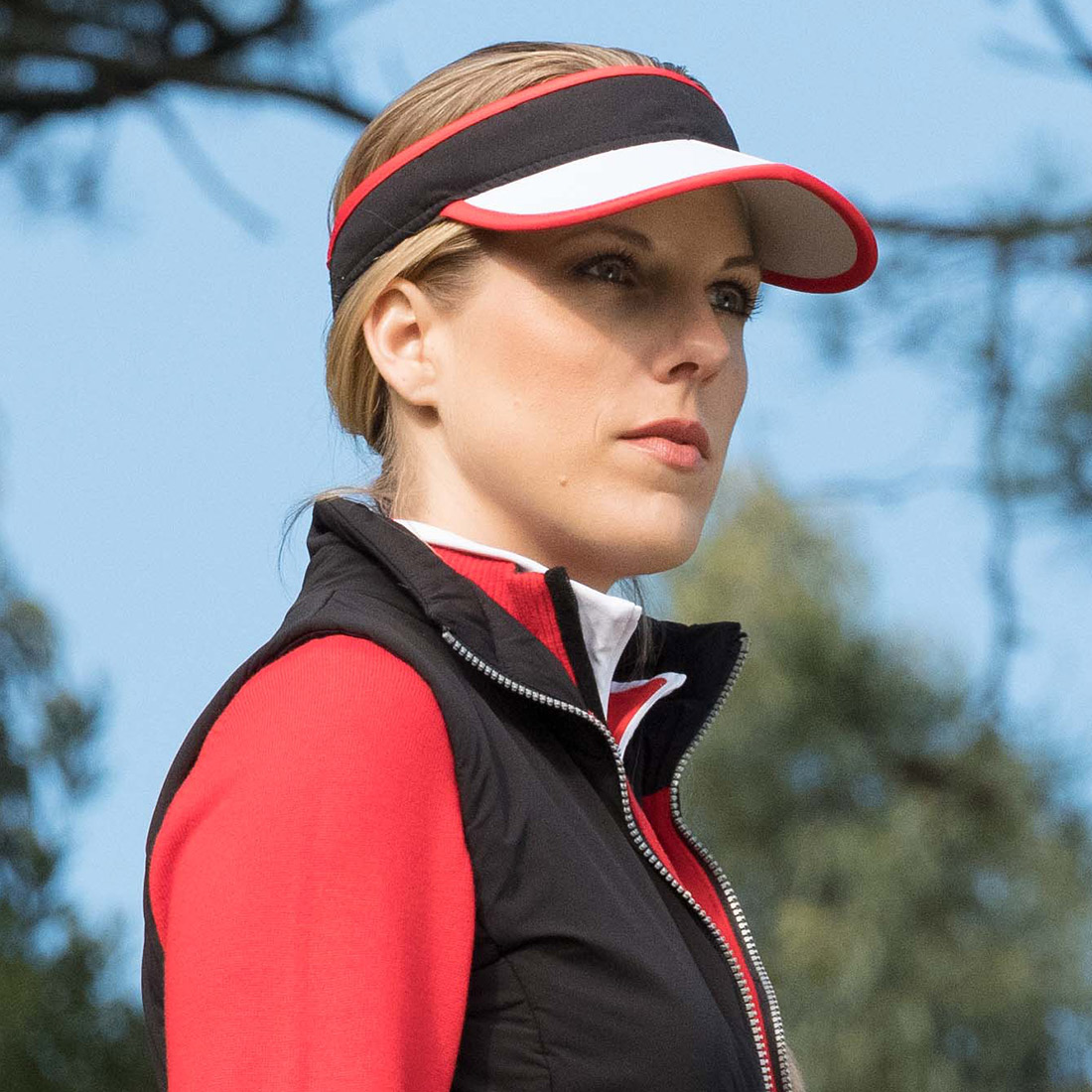 Performance Damen Golf-Visor mit elastischem Band Onesize