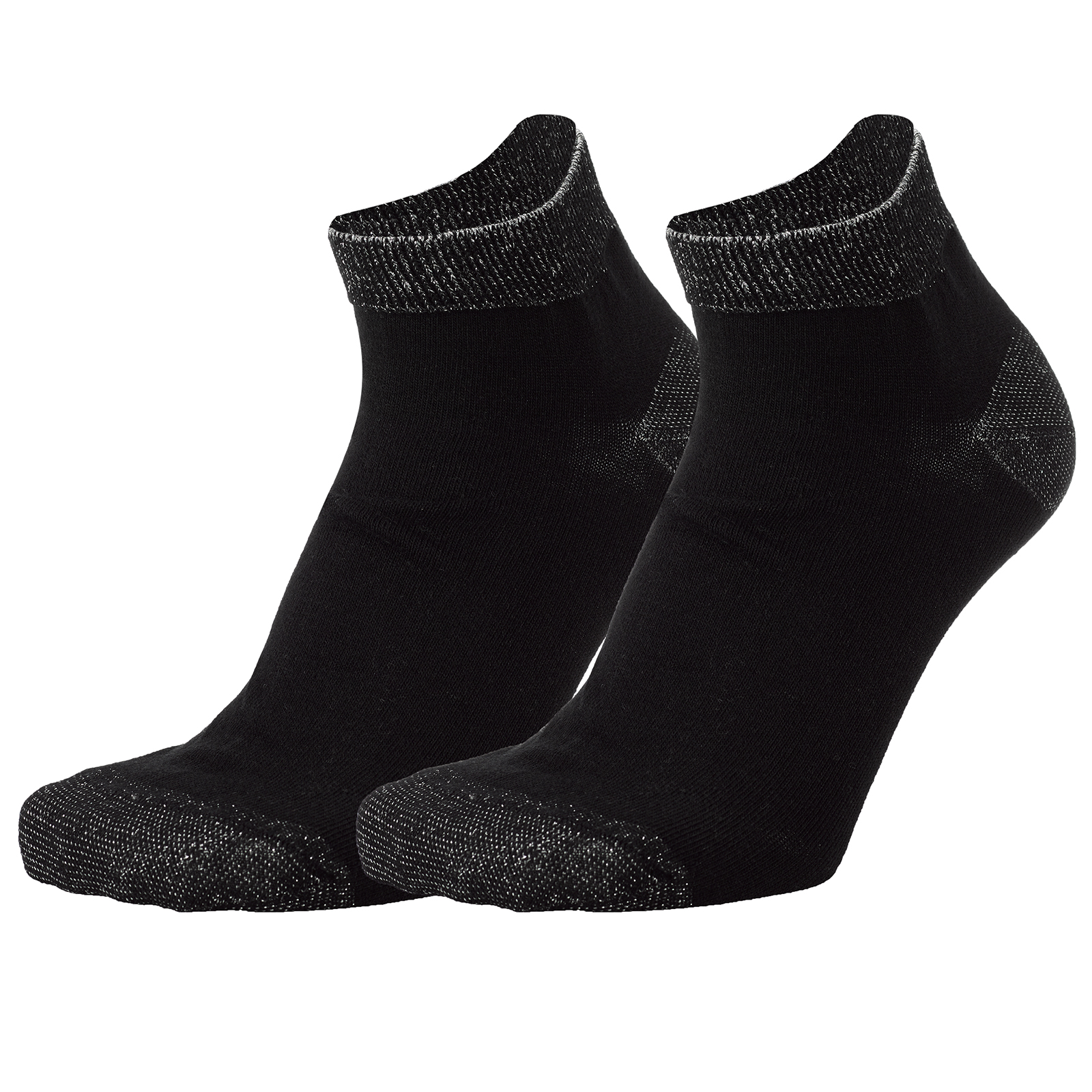 Ladies functional golf socks with stylish shining thread