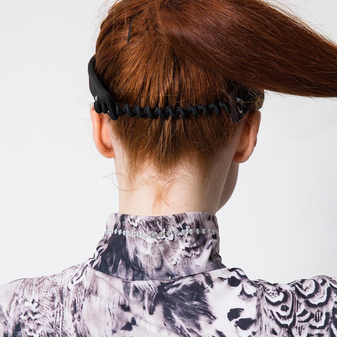 Damen Golf-Visor mit Black Feathers Print in Onesize