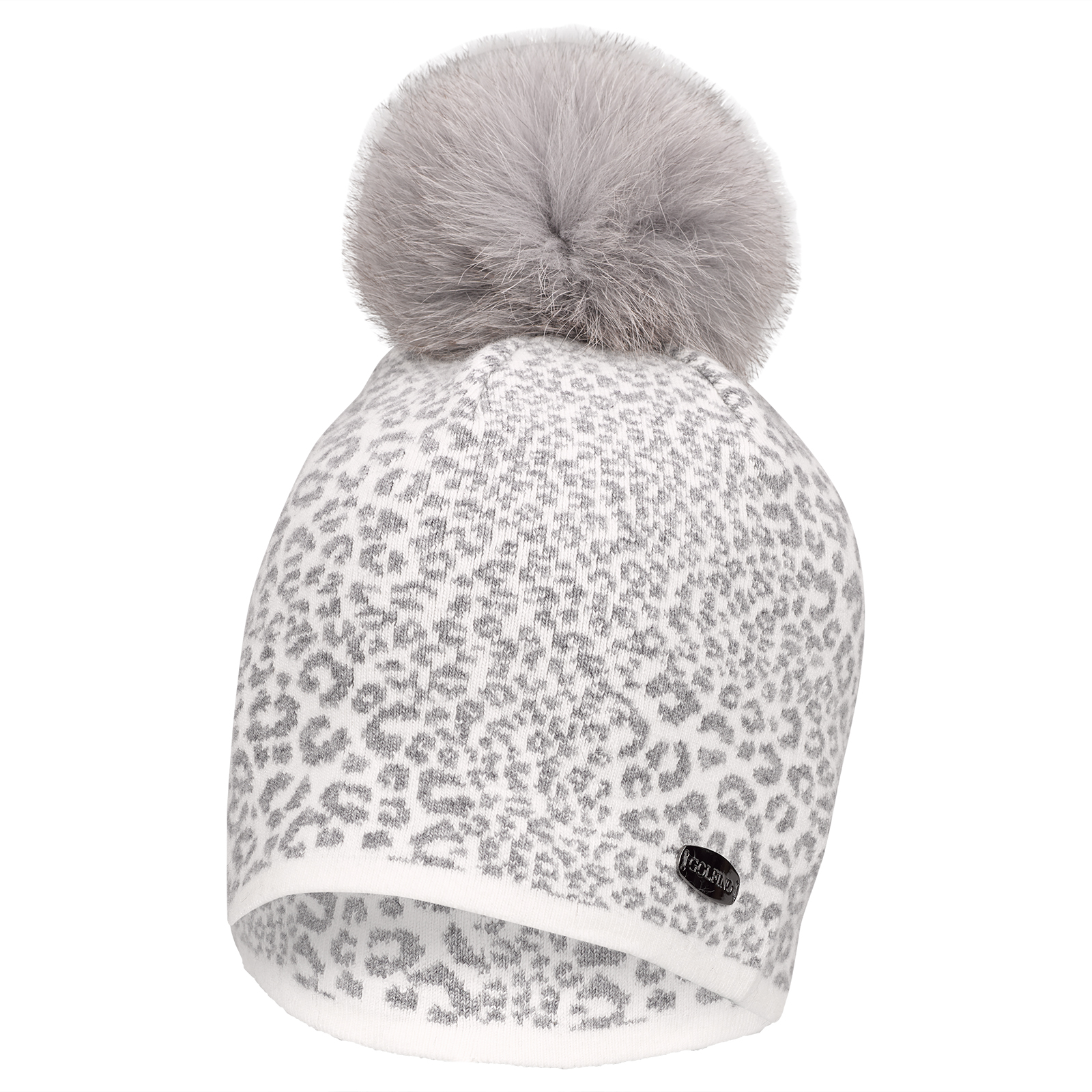 c9f4cd71abe GOLFINO Ladies  golf cap with leopard print and real fur pompom shop online