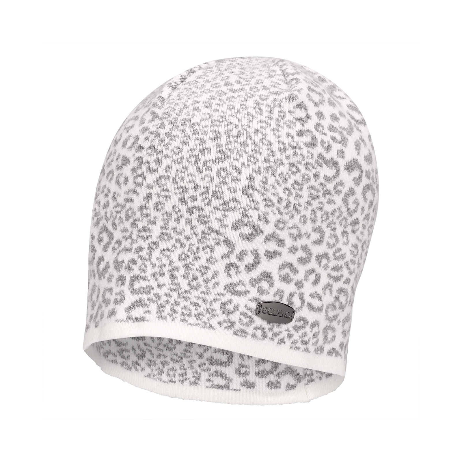 4bcd9be5a53 GOLFINO Ladies  golf beanie hat with leopard print shop online