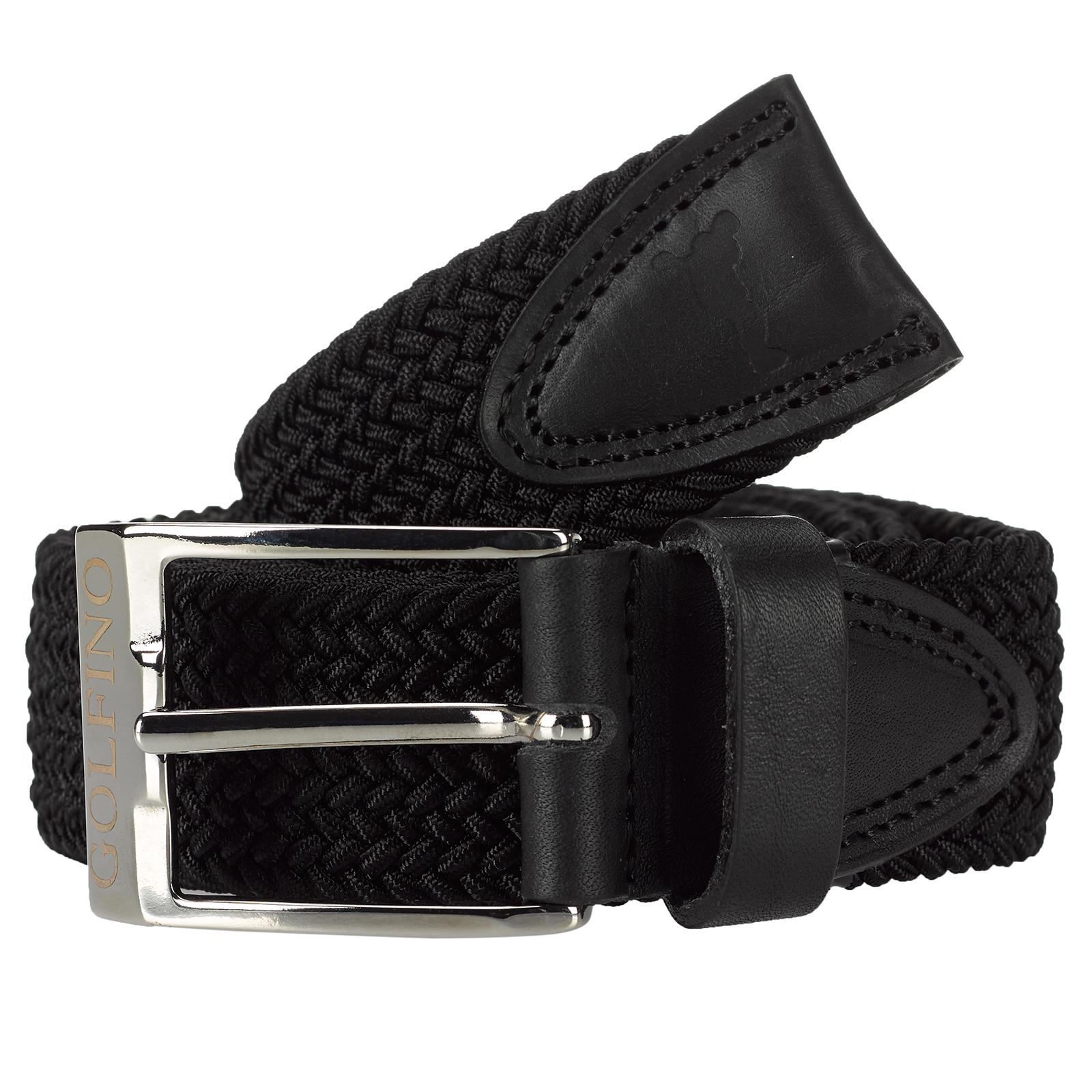 Cinturón elástico de golf de hombre con un ribete de alta calidad de cuero auténtico