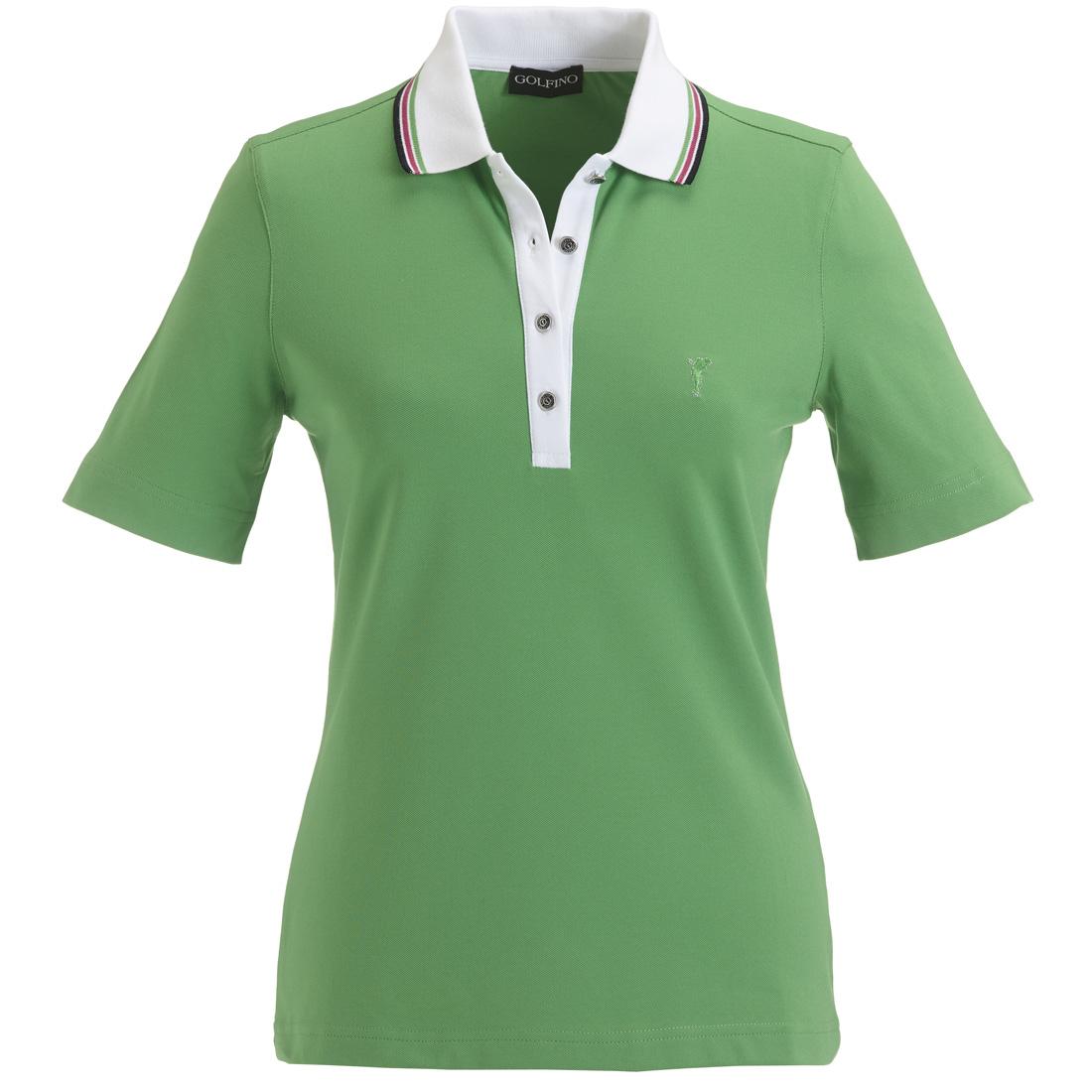 Verziertes Piqué Poloshirt mit UV-Schutz Spring