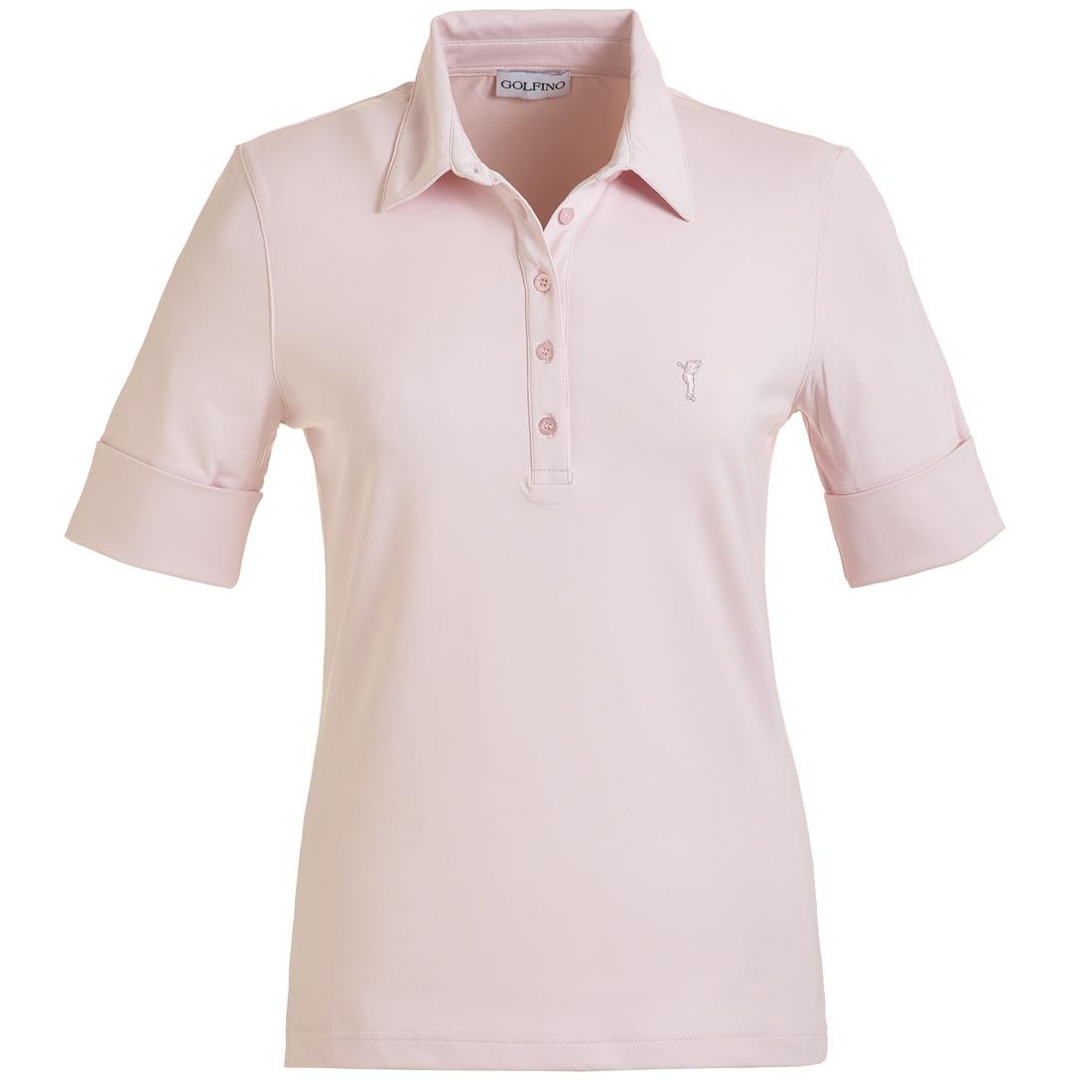 Dry Comfort Jersey Poloshirt mit gekrempelten Ärmeln