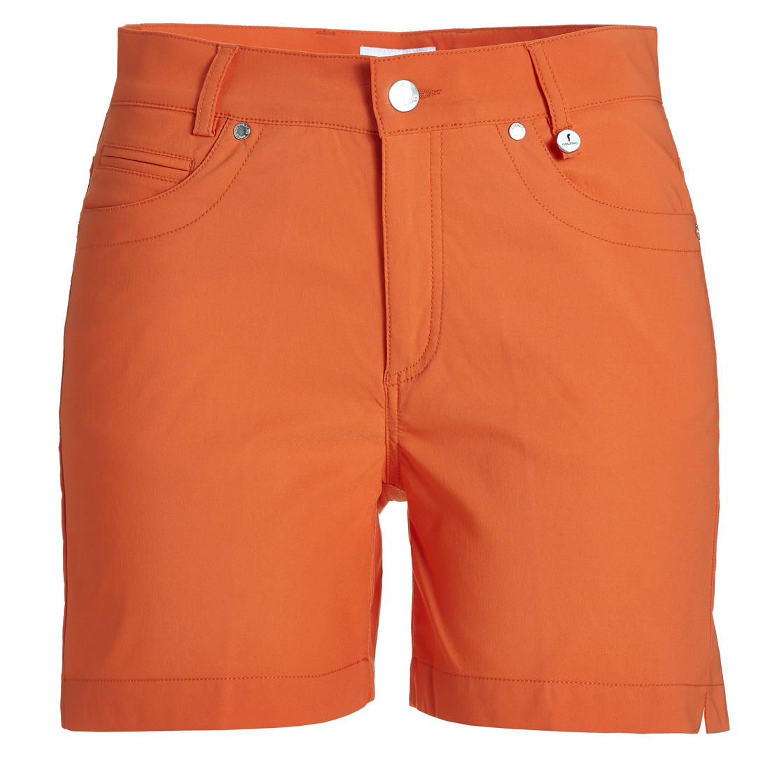 5-Pocket Techno Stretch Kurzarm s Tangerine