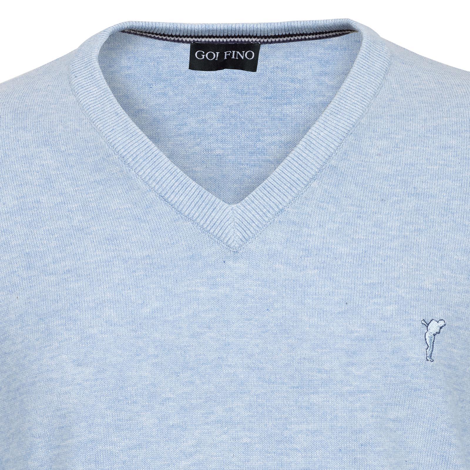 Herren Sommer-Golfpullover mit V-Ausschnitt aus super softer Baumwolle