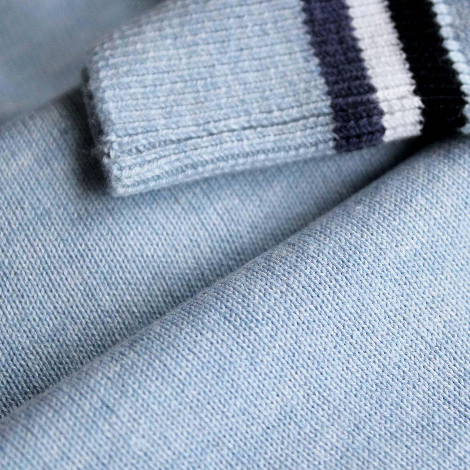 Herren Golfpullover mit V-Ausschnitt aus super softer Baumwolle