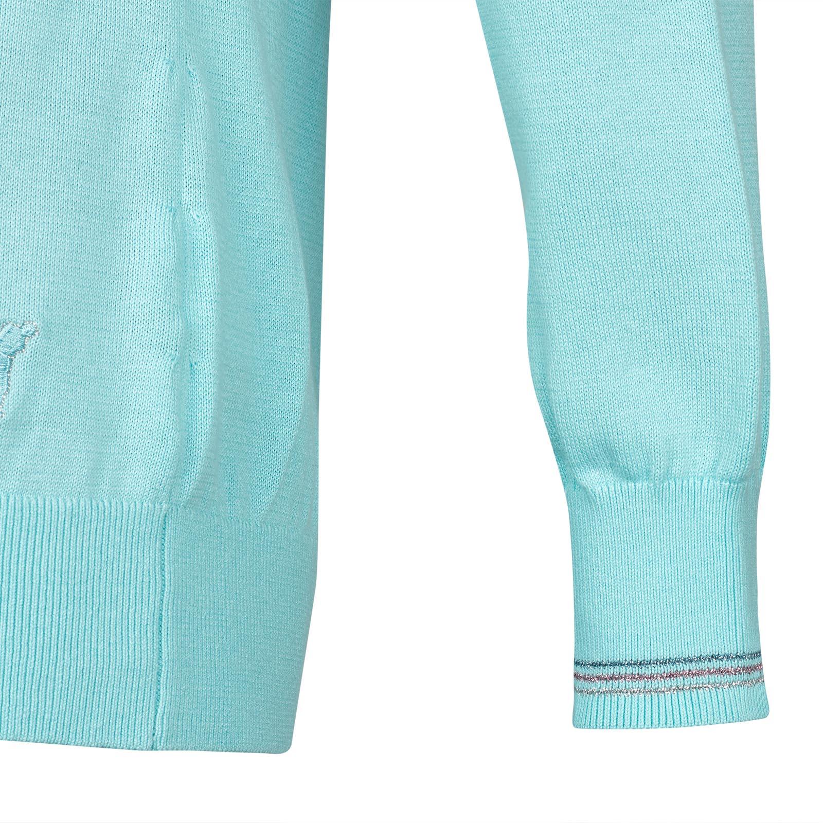 Damen Strickpullover aus edler Baumwolle mit schimmernden Details