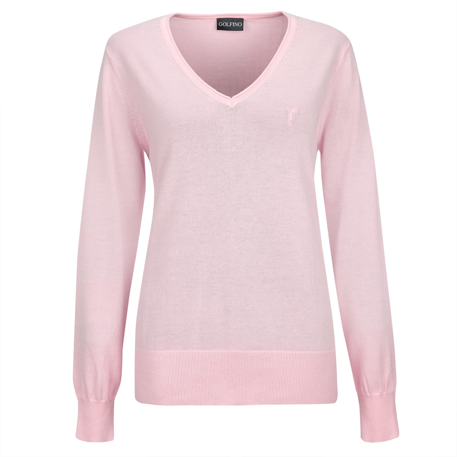 Ladies' V-neck golf sweater