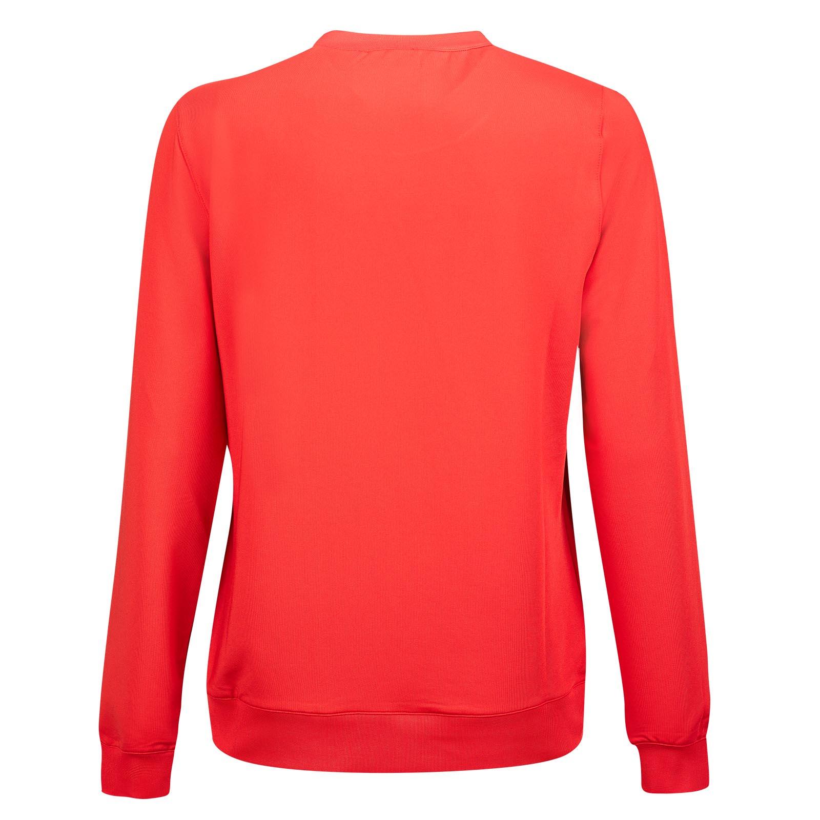 Damen Retro Sport Sweater mit Stretch Funktion und modischem Strass