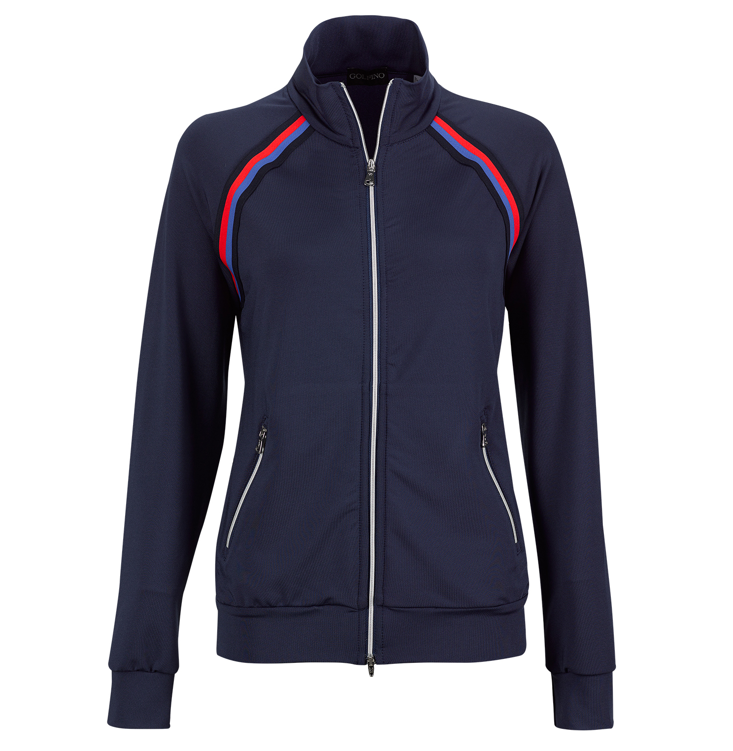 Ladies' retro sport jacket from premium stretch material