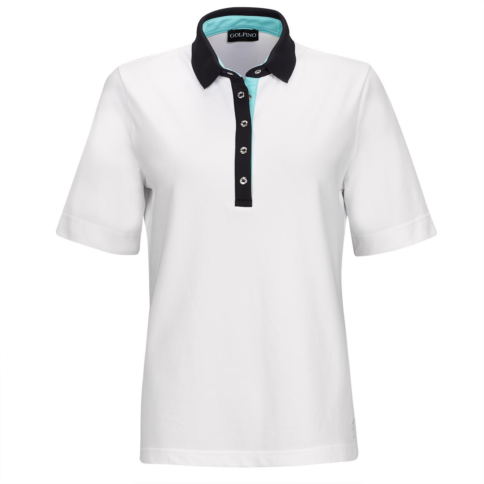 Short-sleeve Ladies' golf polo with Sun Protection and stretch function