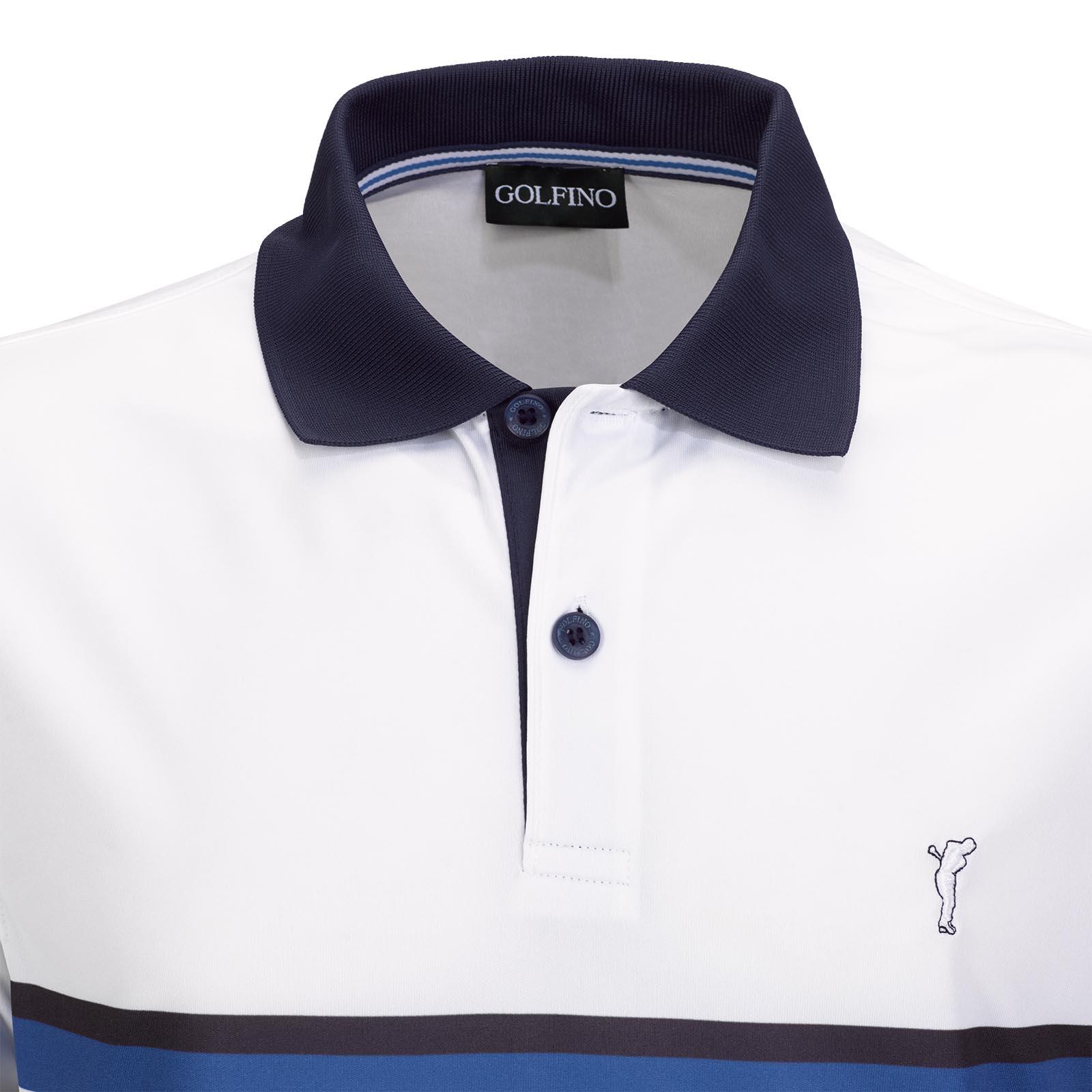 Silver Protection Herren Kurzarm Golfpolo mit Moisture Management