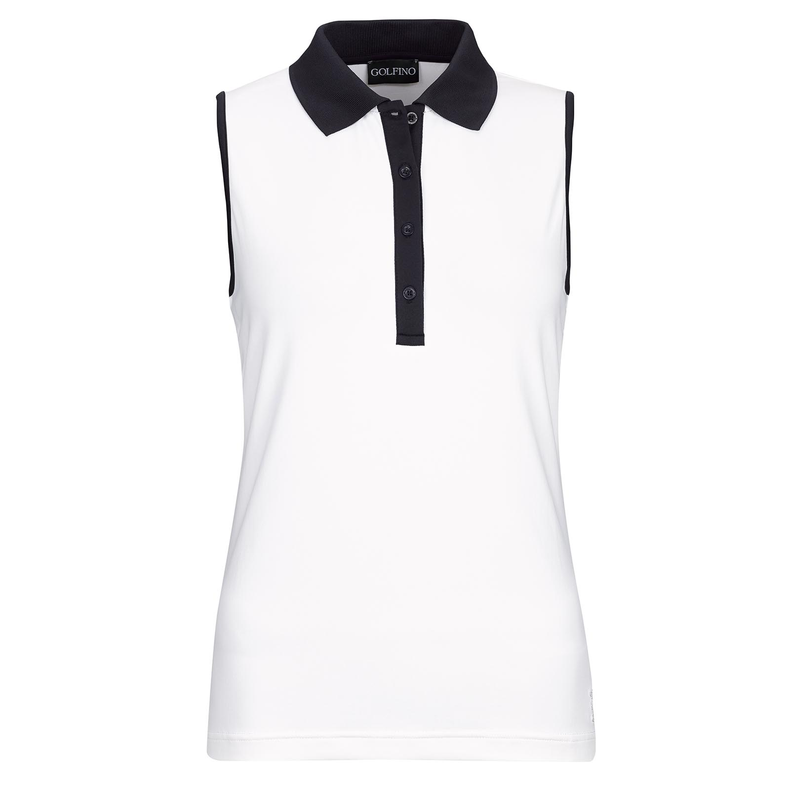 Ladies' sleeveless Dry Comfort functional golf polo from Lycra mix