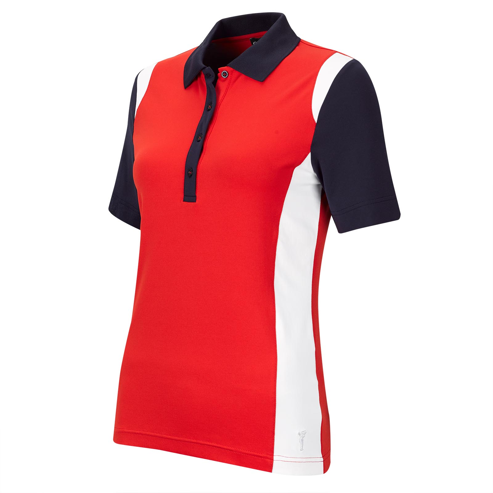 Short-sleeve Ladies' functional golf polo with Moisture Management in Pro Look