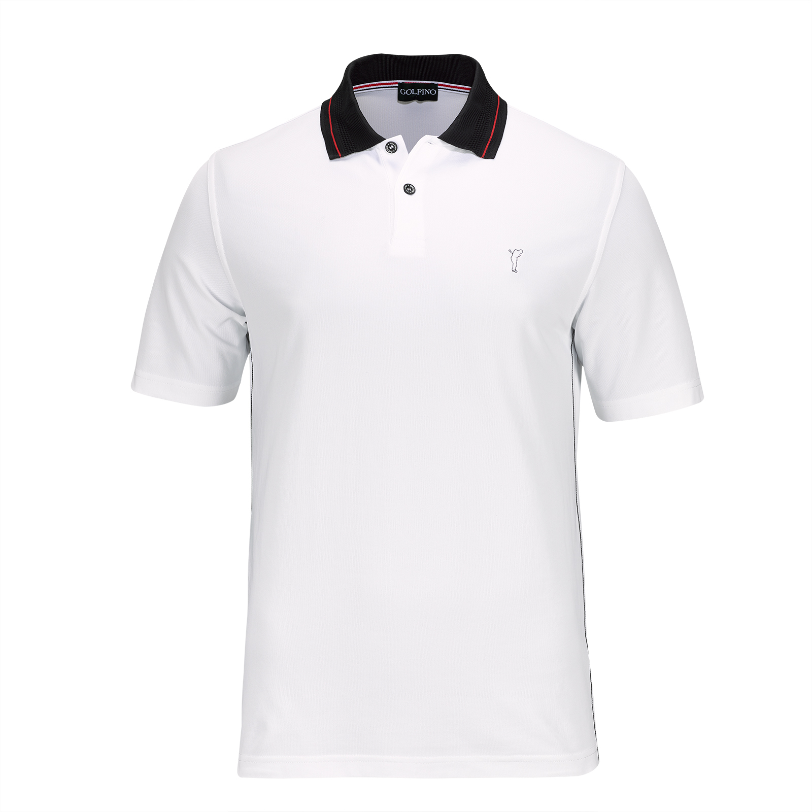 Extra dry Red Performance short sleeve men's golf piqué polo with soft feel