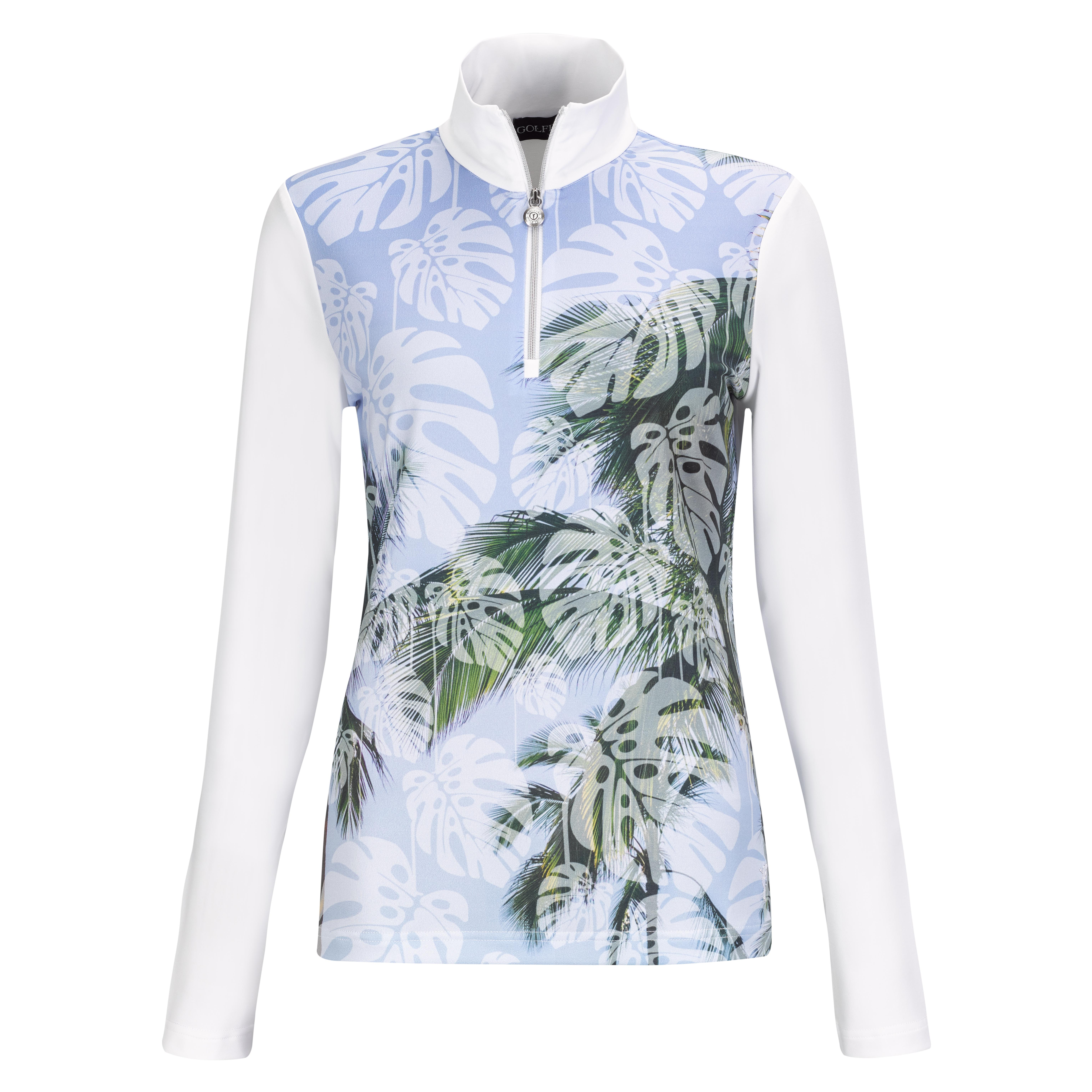 Dry Comfort Palm Beach Ladies' golf troyer with large print