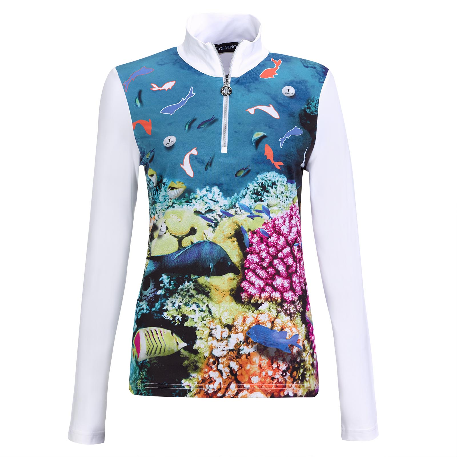 Under The Sea Damen Stretch-Golftroyer mit großem Print