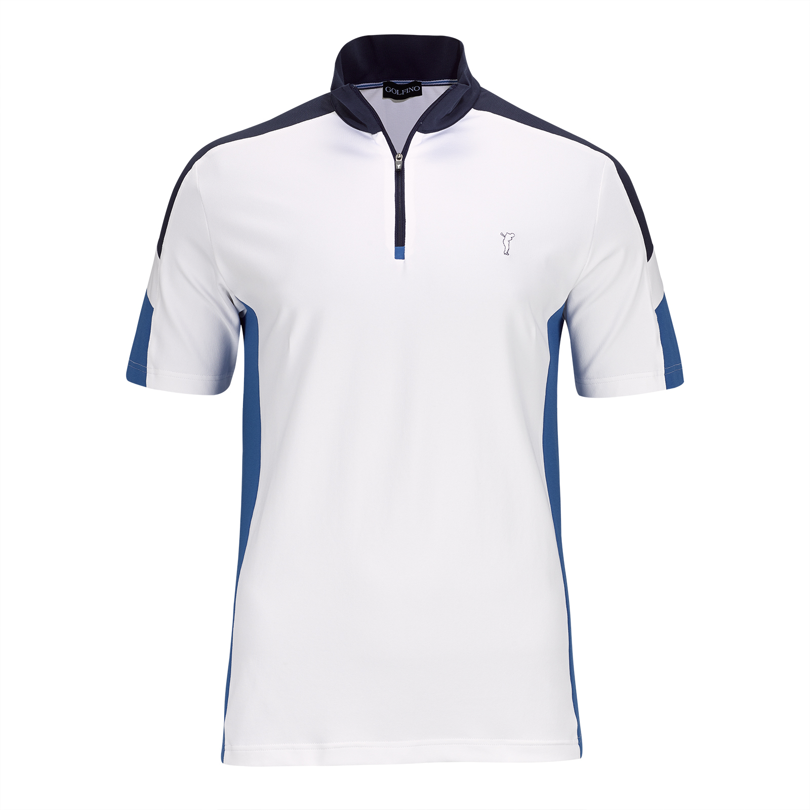 Performance short sleeve men's golf troyer with UV protection in Pro-Look