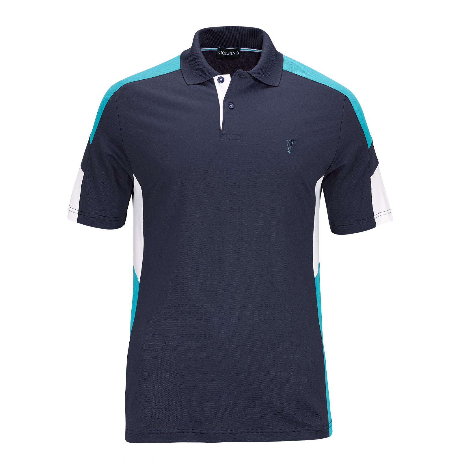 Men's sun protection functional short sleeve golf polo in Pro-Look