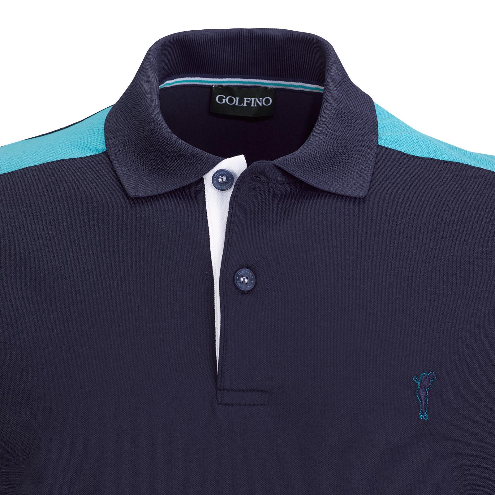 Herren Kurzarm Sunprotection Funktions-Golfpolo im Pro-Look