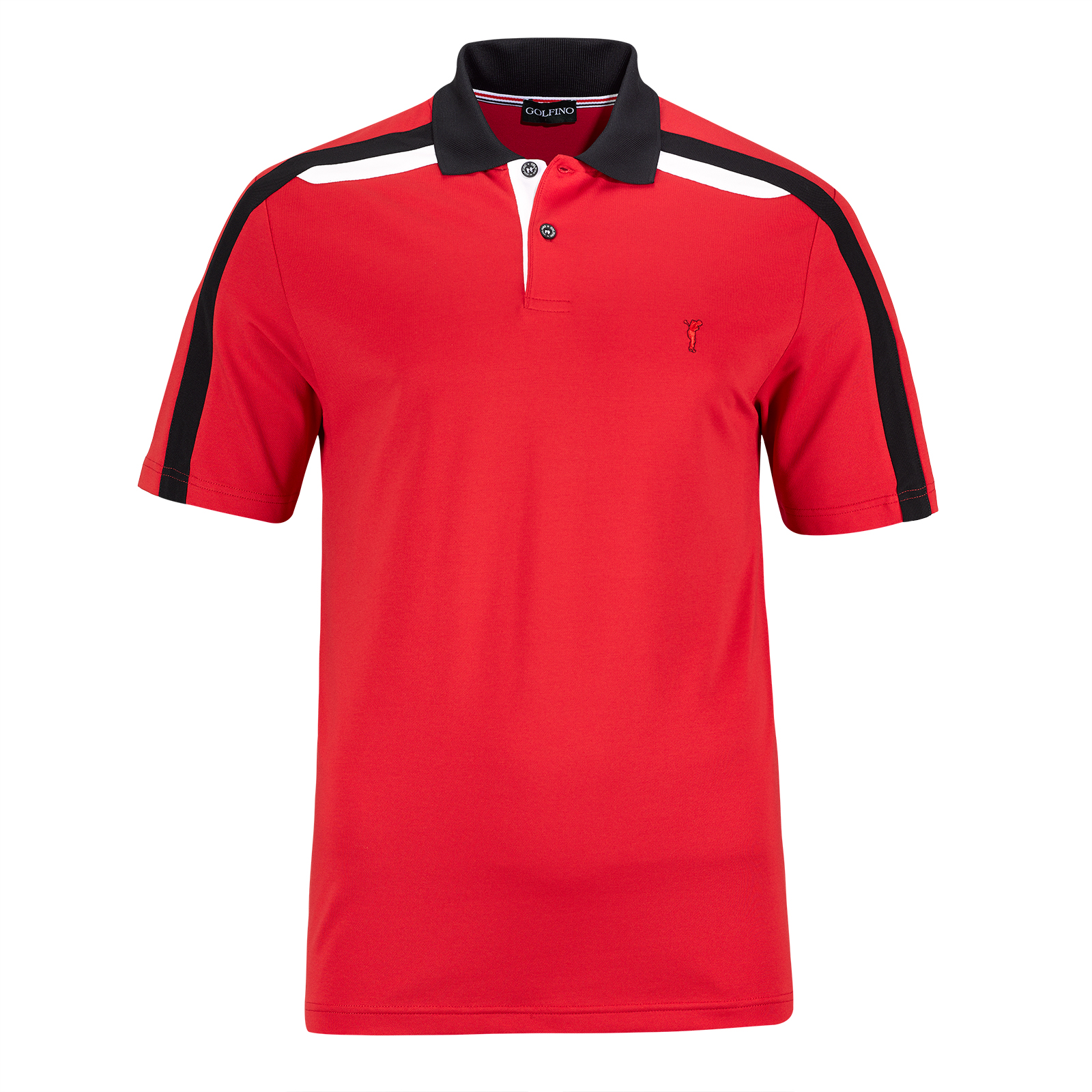 Extra dry men's short sleeve golf piqué polo in Pro look with contrasting colours