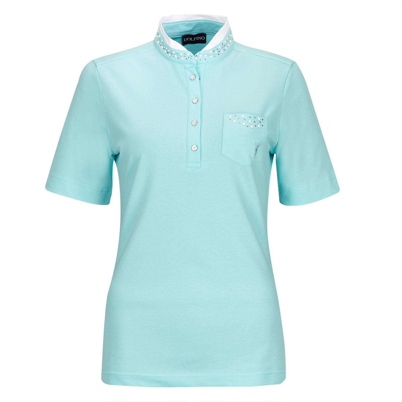 Damen Kurzarm Cotton Blend Golfpolo Key Largo mit Stretchfunktion