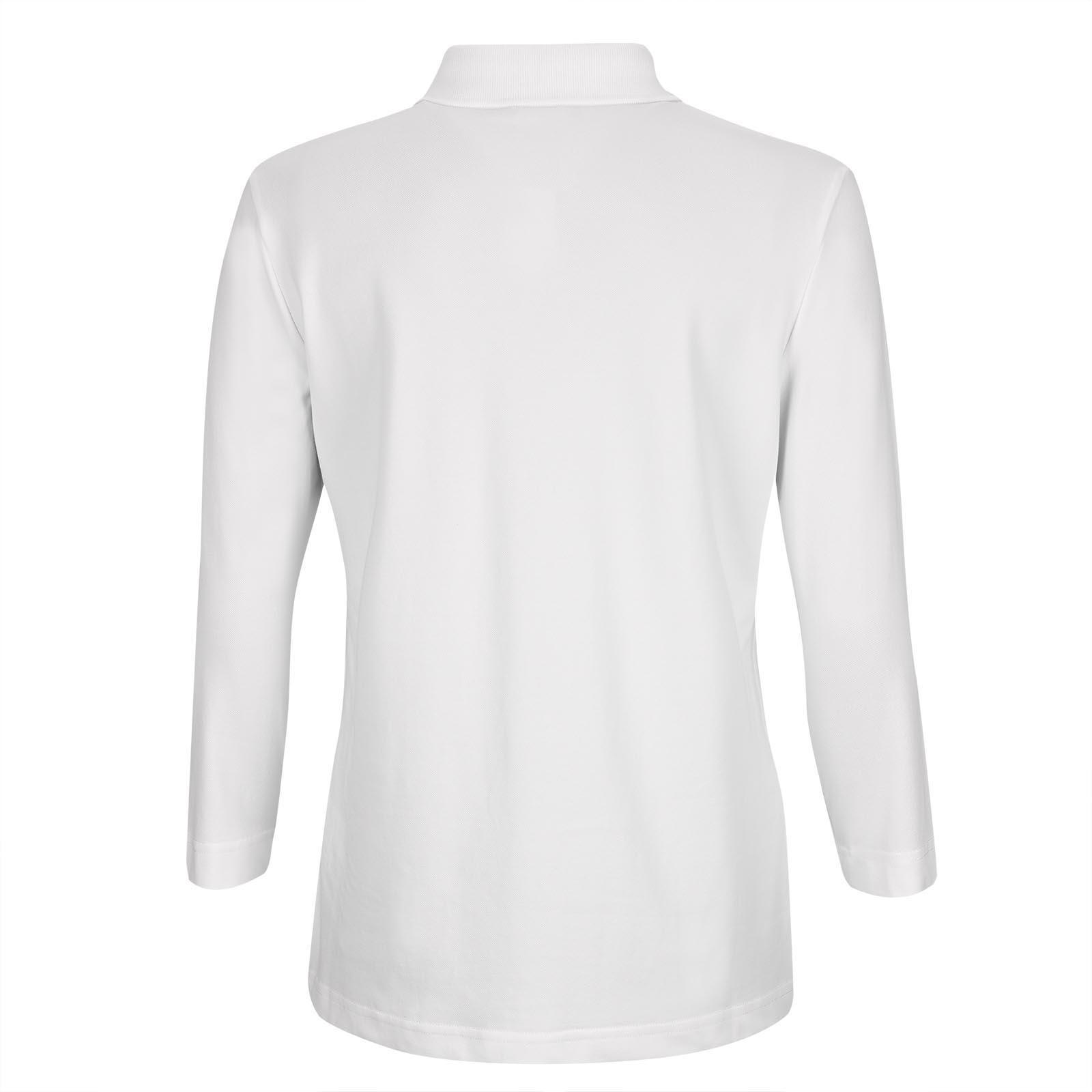 3/4-Arm Damen Golfpolo mit Stretchfunktion, Cotton-Blend und Strassbesatz