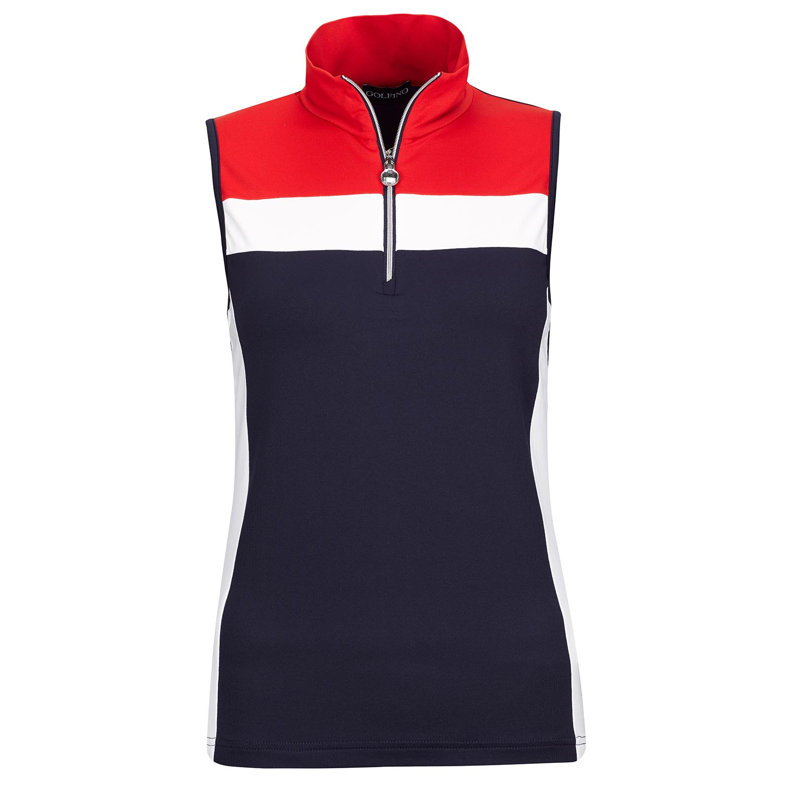 Ladies' sleeveless Lycra Performance functional golf troyer in Pro-Look
