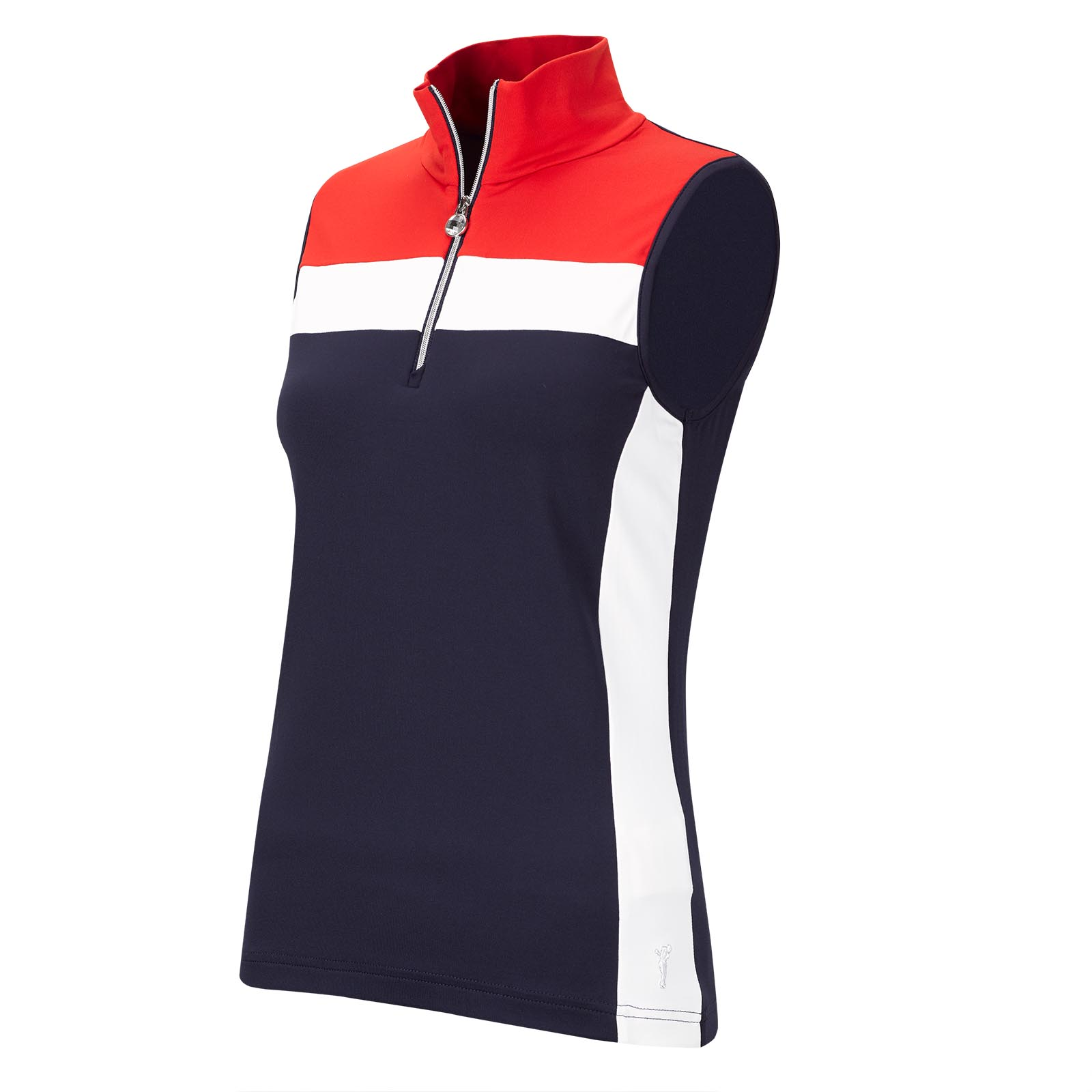 Ärmelloser Damen Lycra® Performance Funktions-Golftroyer im Pro-Look