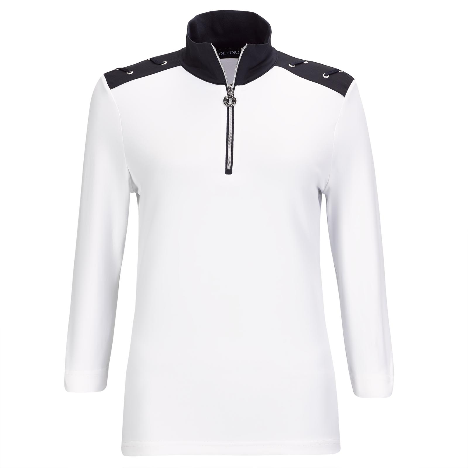 Ladies' Lycra function golf troyer with a 3/4-arm and Golfino eyelets