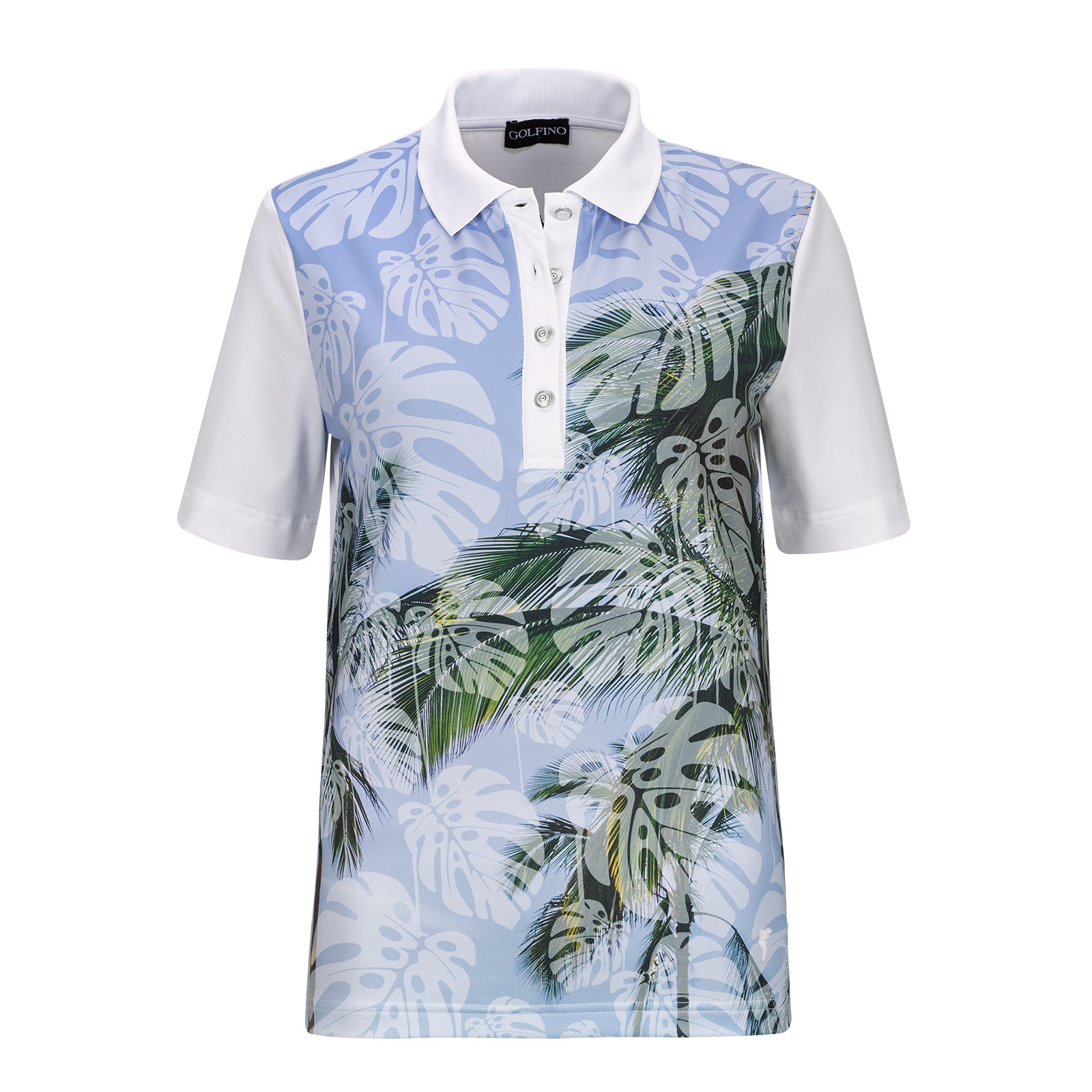 Palm Beach Ladies' Short Sleeve Polo with large print and stretch function