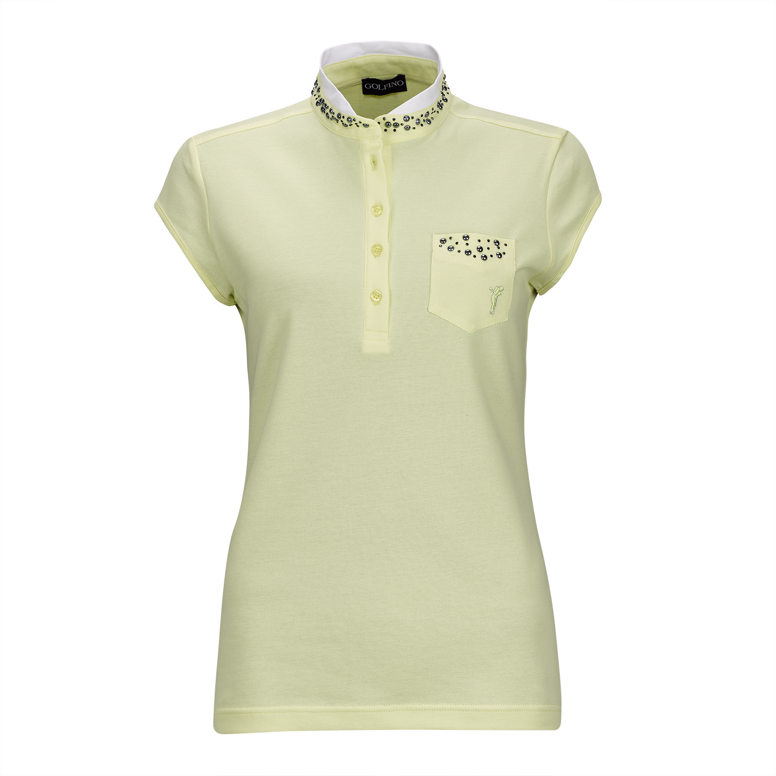 Ladies' Cotton-Blend golf polo with capped sleeves