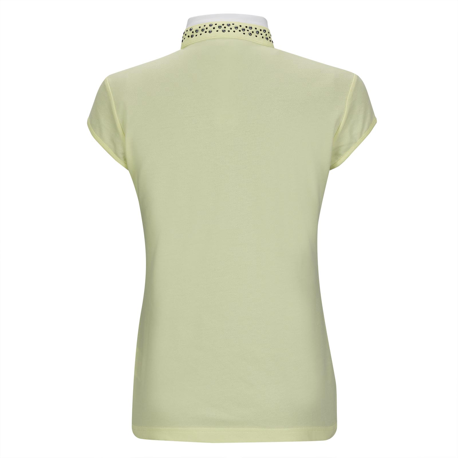 Damen Cotton-Blend Golfpolo mit Flügelärmeln und aufwendiger Applikation