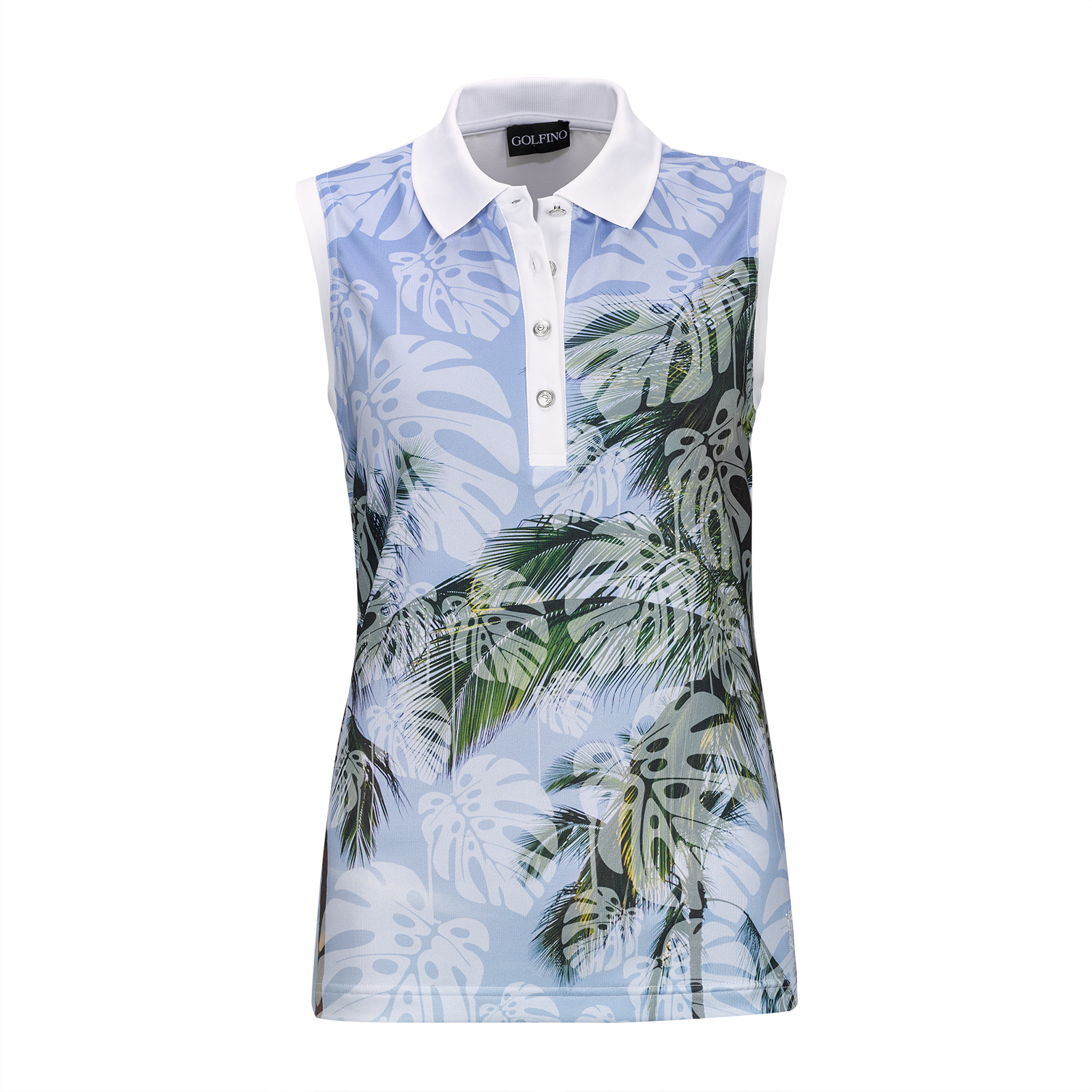 Sleeveless Palm Beach Ladies' Short Sleeve Golf Polo with print and stretch function