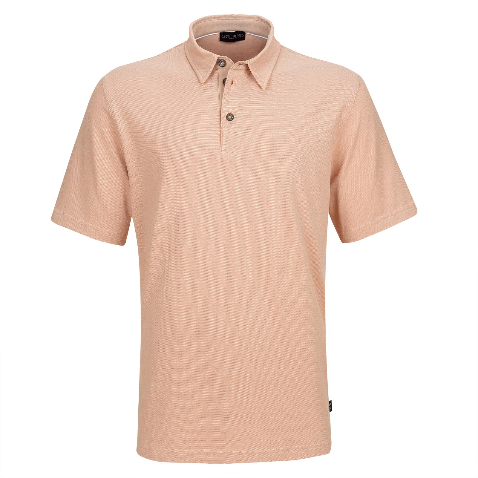 Men's short sleeve golf piqué with UV protection and stretch function