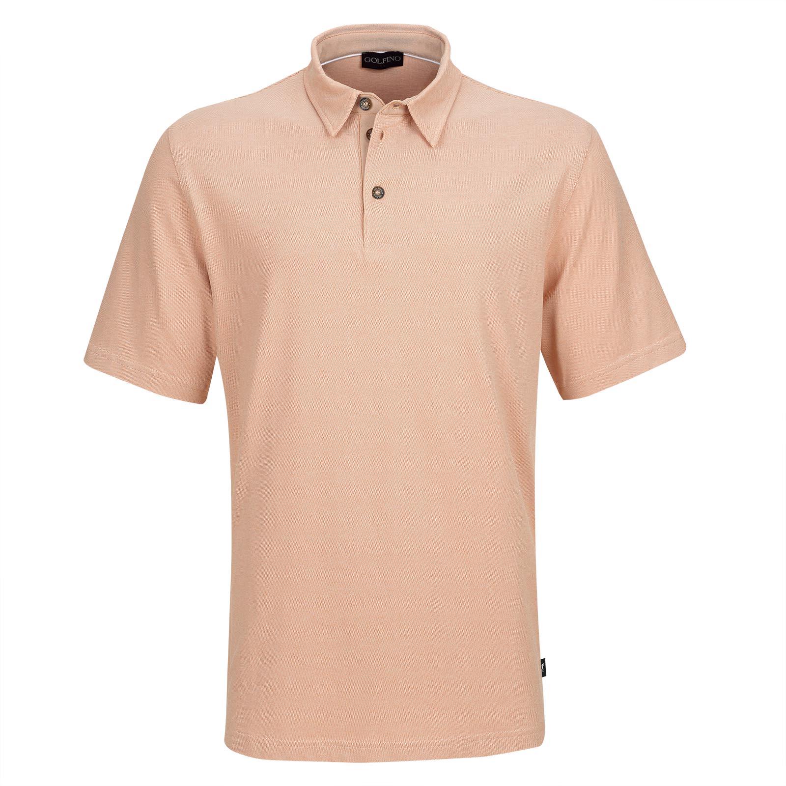 Herren Kurzarm Golf-Piqué mit UV-Schutz und Stretchfunktion