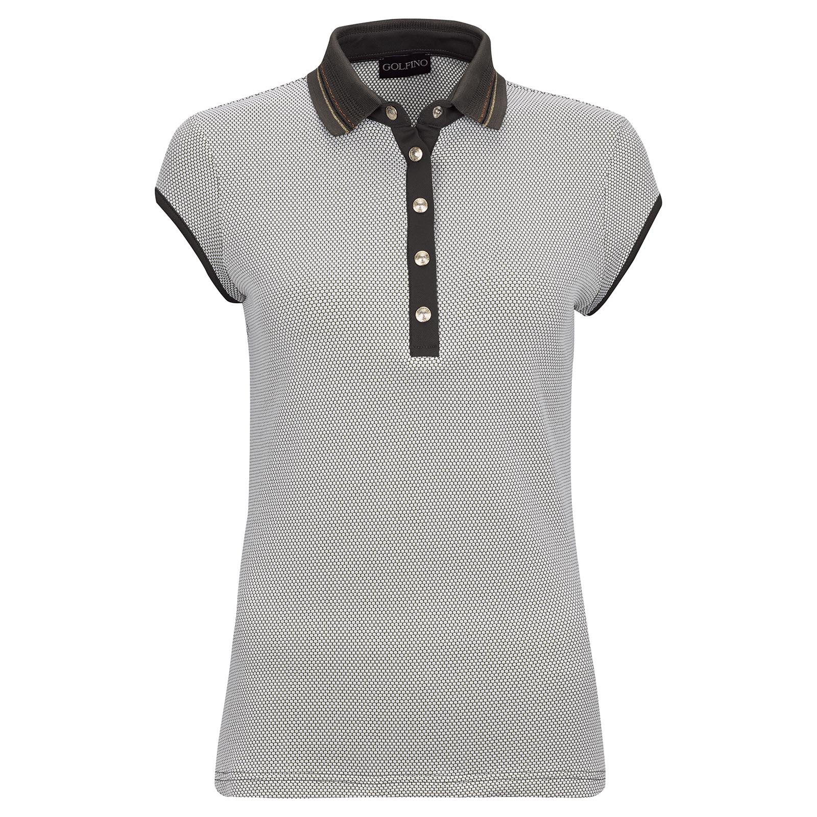 Ladies' functional golf polo shirt made of high quality jacquard bubble