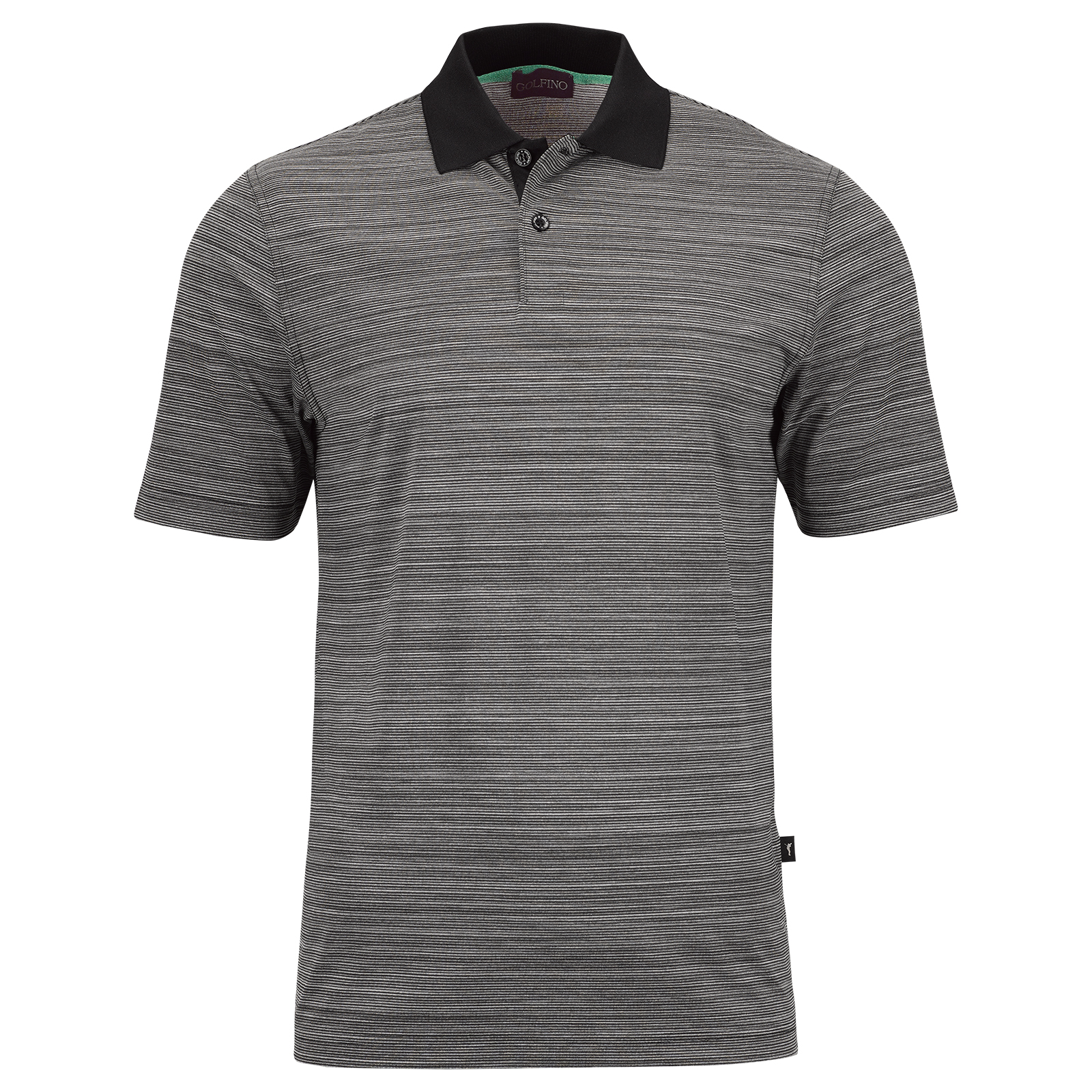 Striped men's casual short-sleeved functional golf polo Quick Dry