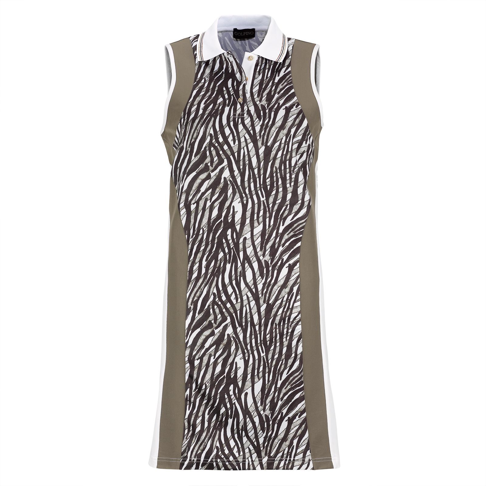 Ärmelloses Damen-Golfkleid mit Print und elastischen Spieleigenschaften