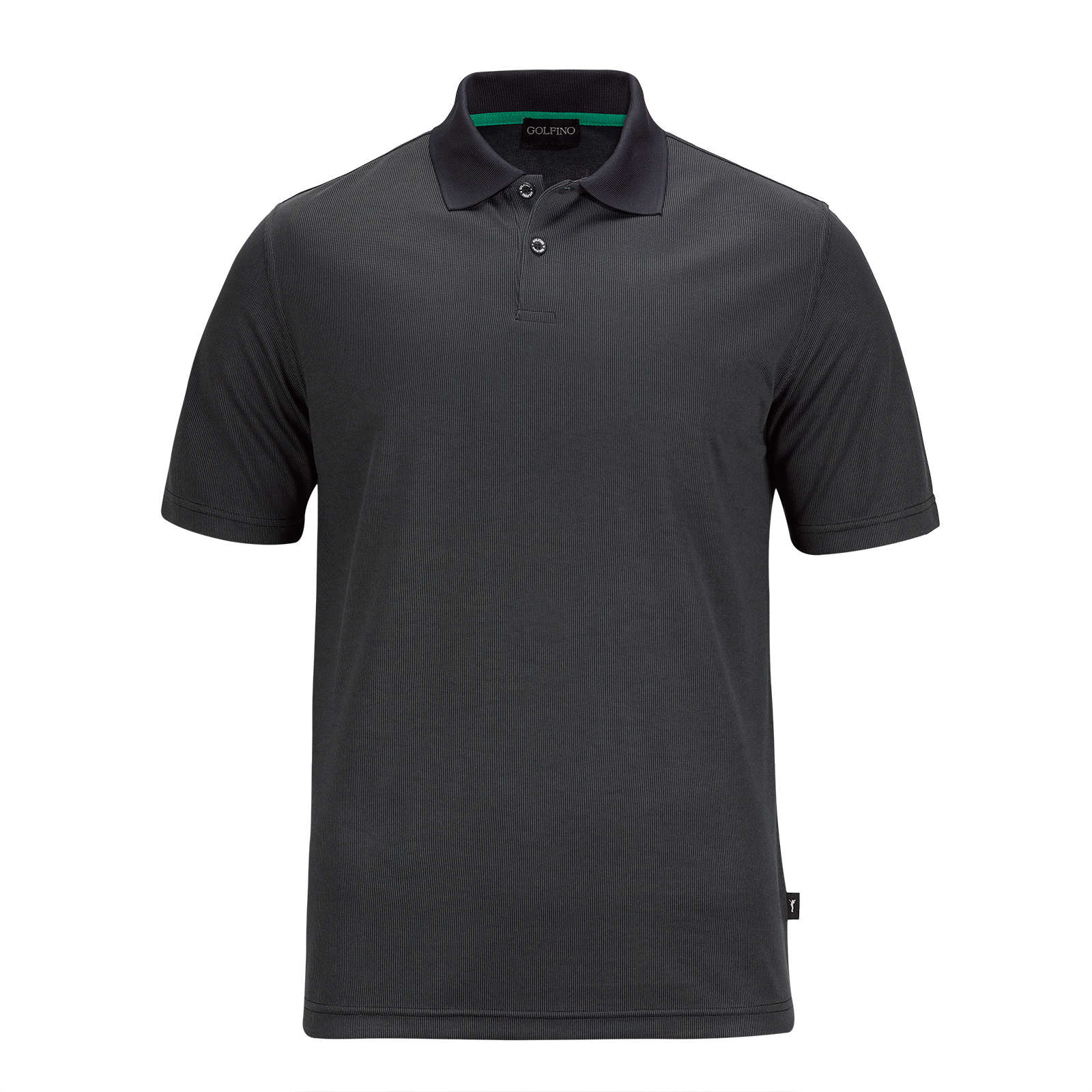 Men's short sleeve functional golf polo with moisture management